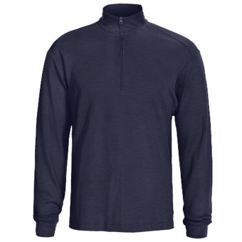 Woolrich Territory Shirt - UPF 40+, Zip Neck, Long Sleeve (For Men) in Deep Navy