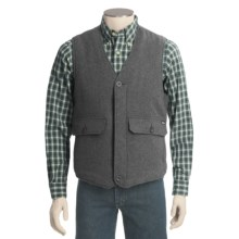Woolrich Teton Vest - Wool (For Men) in Charcoal Heather - Closeouts