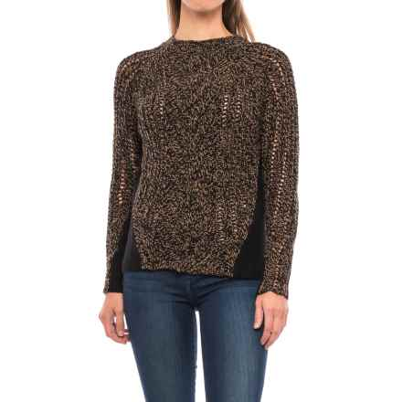 Woolrich Textured Sweater - Lambswool Blend (For Women) in Black Chicory Twist - Closeouts