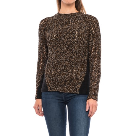 Woolrich Textured Sweater - Lambswool Blend (For Women) in Black Chicory Twist