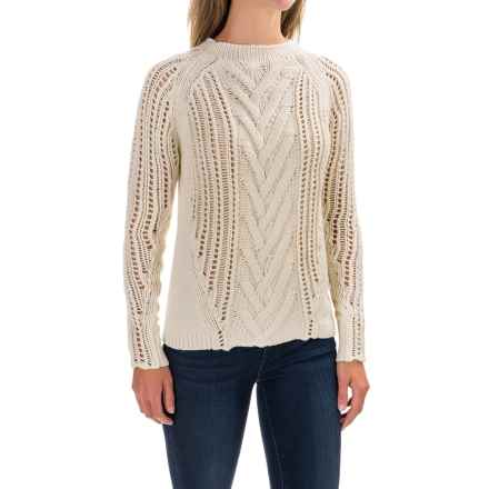 Woolrich Textured Sweater - Lambswool Blend (For Women) in Wool Cream - Closeouts