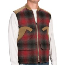 Woolrich The Mix-Up Down Vest - 550 Fill Power (For Men) in Red Plaid - Closeouts