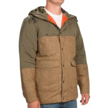 Woolrich The Mix-Up Wool Jacket - 550 Fill Power (For Men) in Brown Herringbone - Closeouts