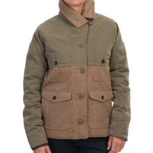 Woolrich The Mix-Up Wool Jacket - Insulated (For Women) in Brown Herringbone - Closeouts