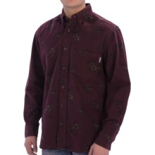 Woolrich Tiadaghton Shirt - Long Sleeve (For Men) in Burgundy - Closeouts