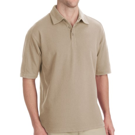 Woolrich Tidal Polo Shirt - UPF 40+, Short Sleeve (For Men) in British Tan