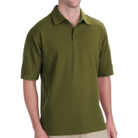Woolrich Tidal Polo Shirt - UPF 40+, Short Sleeve (For Men) in Pesto