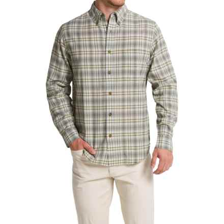 Woolrich Timber Valley Plaid Shirt - Long Sleeve (For Men) in Coastal Grey - Closeouts