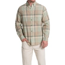 Woolrich Timber Valley Plaid Shirt - Long Sleeve (For Men) in Vanilla Multi - Closeouts