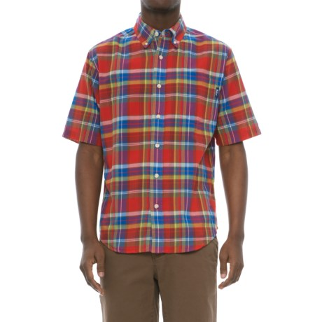 35abd277ad1934 Woolrich Timberline Madras Shirt - Short Sleeve (For Men) in Antique Red