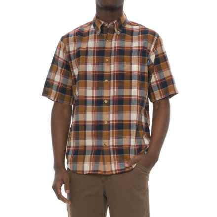 Woolrich Timberline Madras Shirt - Short Sleeve (For Men) in Chicory - Closeouts
