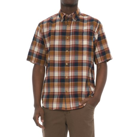 Woolrich Timberline Madras Shirt - Short Sleeve (For Men) in Chicory