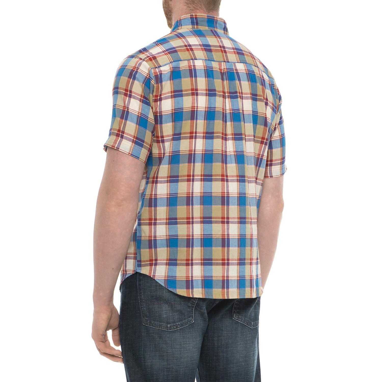 7f204694dc8e8c Woolrich Timberline Madras Shirt - Short Sleeve (For Men)