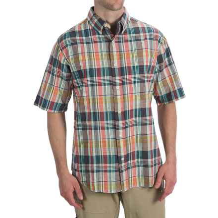Woolrich Timberline Shirt - Short Sleeve (For Men) in Atlantic - Closeouts