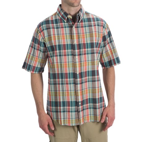 Woolrich Timberline Shirt - Short Sleeve (For Men) in Atlantic