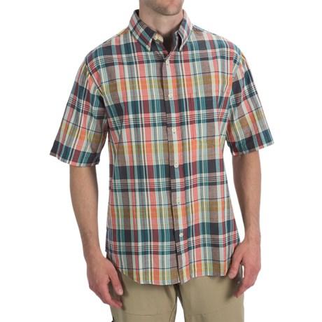 Woolrich Timberline Shirt - Short Sleeve (For Men) in Atlantic
