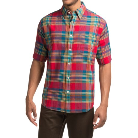 Woolrich Timberline Shirt - Short Sleeve (For Men) in Barn Multi