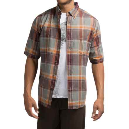 Woolrich Timberline Shirt - Short Sleeve (For Men) in Clay - Closeouts