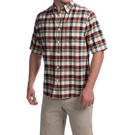 Woolrich Timberline Shirt - Short Sleeve (For Men) in Ink Check - Closeouts
