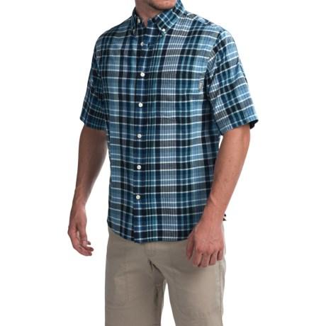 Woolrich Timberline Shirt - Short Sleeve (For Men) in Legion Blue