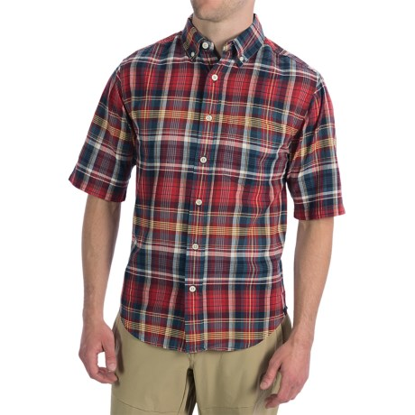 Woolrich Timberline Shirt - Short Sleeve (For Men) in Lobster