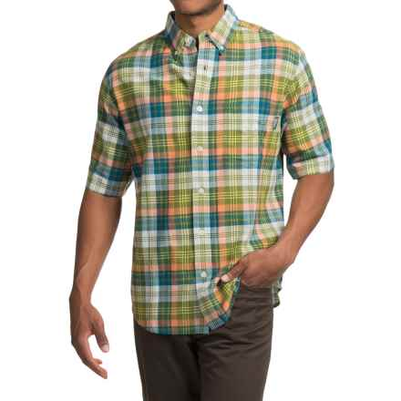 Woolrich Timberline Shirt - Short Sleeve (For Men) in Pine Needle - Closeouts