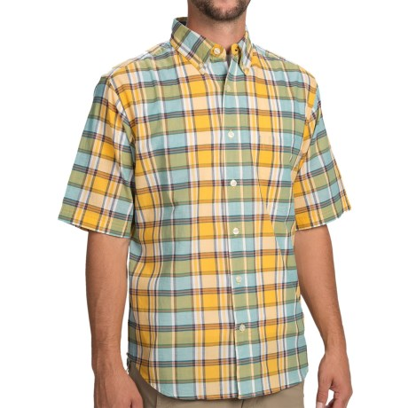 Woolrich Timberline Shirt - Short Sleeve (For Men) in Sunglow