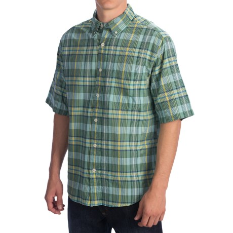 Woolrich Timberline Shirt - Short Sleeve (For Men) in Tree Top Plaid