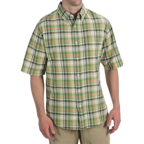 Woolrich Timberline Shirt - Short Sleeve (For Men) in Ink Check