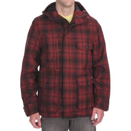 Woolrich Tioga Parka (For Men) in Red Hunt Plaid