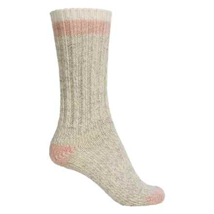Woolrich Tipped Heavy Ragg Socks - Merino Wool, Crew (For Women) in Natural - Closeouts