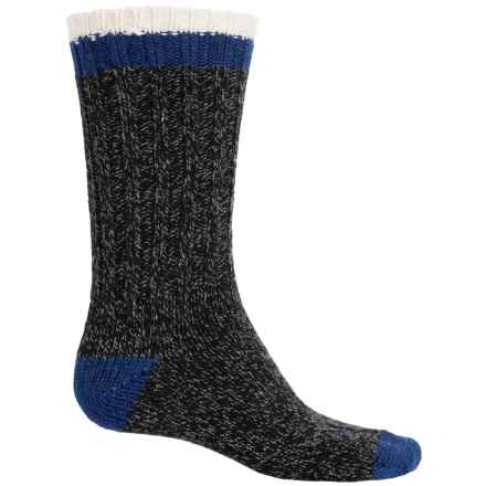 Woolrich Tipped Heavy Ragg Wool Socks - Merino Wool, Crew (For Men) in Black - Closeouts