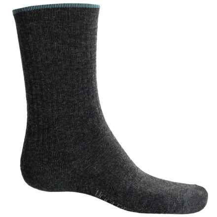 Woolrich Tipped Socks - Merino Wool Blend, Crew (For Women) in Charcoal - Overstock