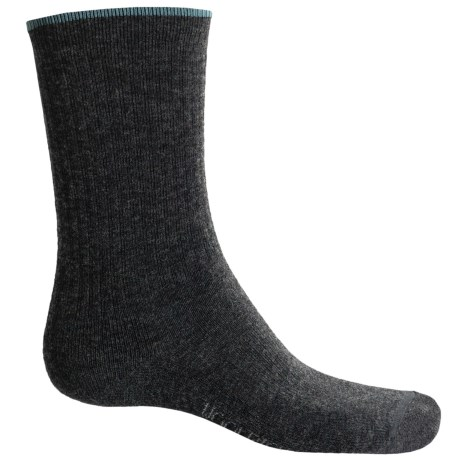 Woolrich Tipped Socks - Merino Wool Blend, Crew (For Women) in Charcoal