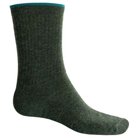 Woolrich Tipped Socks - Merino Wool Blend, Crew (For Women) in Dark Olive - Overstock