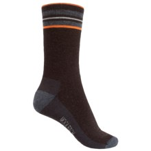 Woolrich Tipped Stripe Socks - Merino Wool, Crew (For Women) in Java - Closeouts