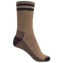 Woolrich Tipped Stripe Socks - Merino Wool, Crew (For Women) in Lead Grey - Closeouts