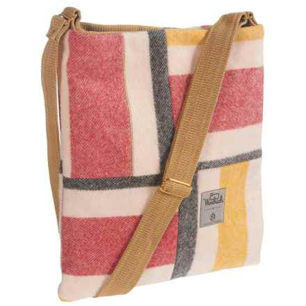 Woolrich Tote Bag (For Women) in Peach/Red/Grey Box Check - Closeouts