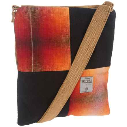 Woolrich Tote Bag (For Women) in Red Orange/Black Box Check - Closeouts