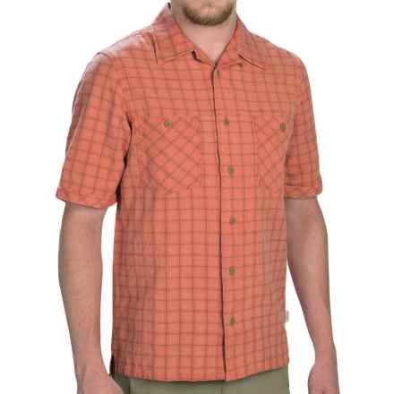 Woolrich Traction Shirt - Short Sleeve (For Men) in Chili - Closeouts
