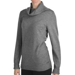Woolrich Trailblazer Cowl Neck Sweater - Merino Wool (For Women) in Atlantic
