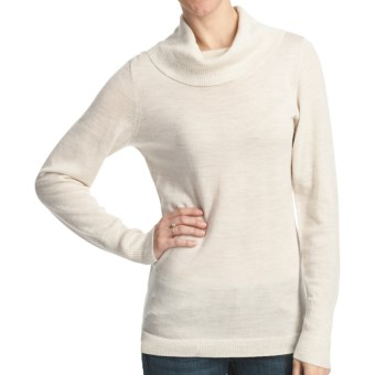 Woolrich Trailblazer Cowl Neck Sweater - Merino Wool (For Women) in Winter White