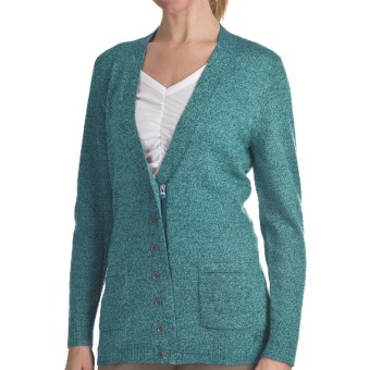 Woolrich Trailblazer Zip Front Cardigan Sweater - Merino Wool (For Women) in Atlantic