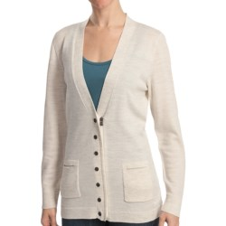 Woolrich Trailblazer Zip Front Cardigan Sweater - Merino Wool (For Women) in Blackberry