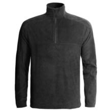Woolrich Transit Fleece Shirt - Zip Neck, Long Sleeve (For Men) in Black - Closeouts