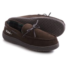Woolrich Trapper Moccasin Slippers (For Men) in Chocolate - Closeouts