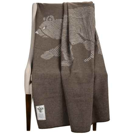 "Woolrich Treverton Jacquard Wool Throw Blanket - 46x70"" in Bear - Closeouts"