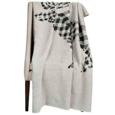 "Woolrich Treverton Jacquard Wool Throw Blanket - 46x70"" in Moose - Closeouts"