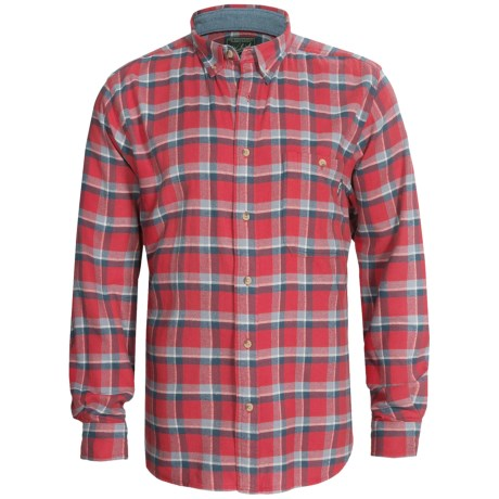 Woolrich Trout Run Flannel Shirt - Long Sleeve (For Men) in Cardinal
