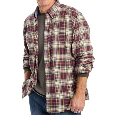 Woolrich Trout Run Flannel Shirt - Long Sleeve (For Men) in Deep Ruby Check